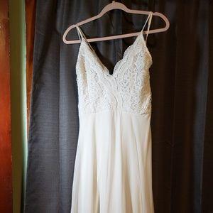 Madalyn White Lace Maxi Dress- Lulu's